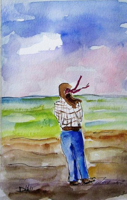Art: Watching the Waves by Artist Delilah Smith