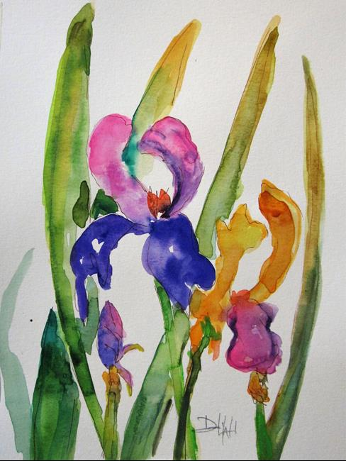 Art: Colorful Iris by Artist Delilah Smith