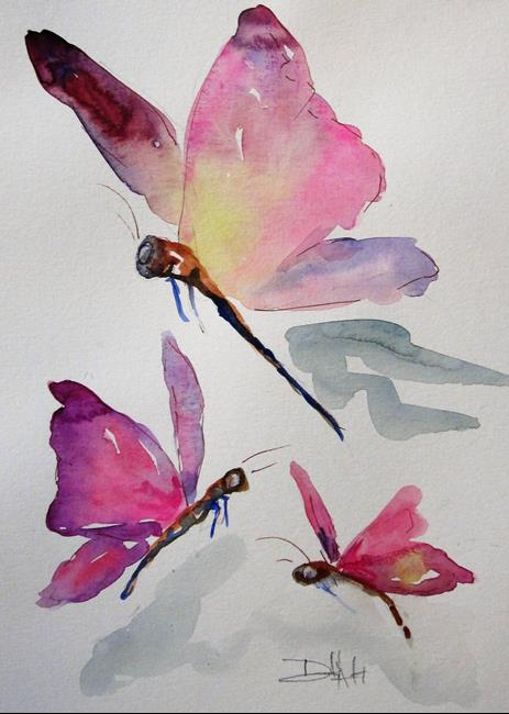 Art: Three Butterflies by Artist Delilah Smith