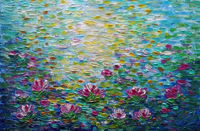 Art: WATER LILIES by Artist LUIZA VIZOLI