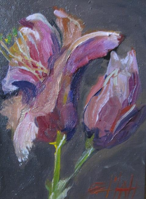 Art: Magnolias-sold by Artist Delilah Smith