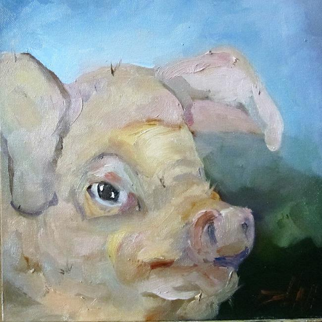 Art: Pig No. 14 by Artist Delilah Smith
