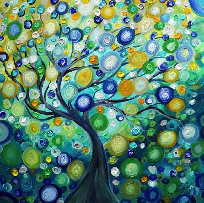 Art: RAIN TREE by Artist LUIZA VIZOLI