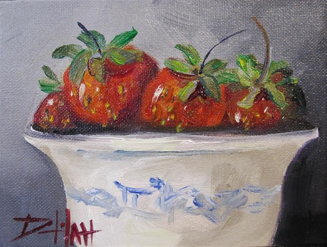 Art: Bowl of Strawberries by Artist Delilah Smith