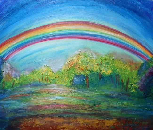Art: The Double Rainbow by Artist LUIZA VIZOLI