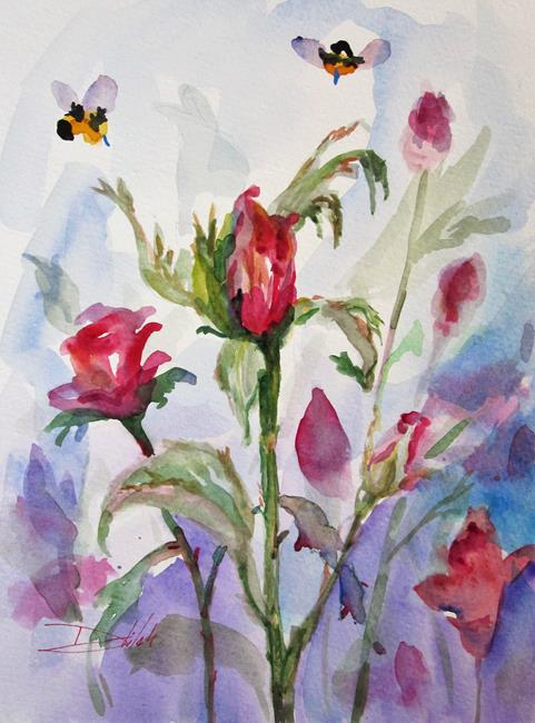 Art: Rose Bud in Pink by Artist Delilah Smith