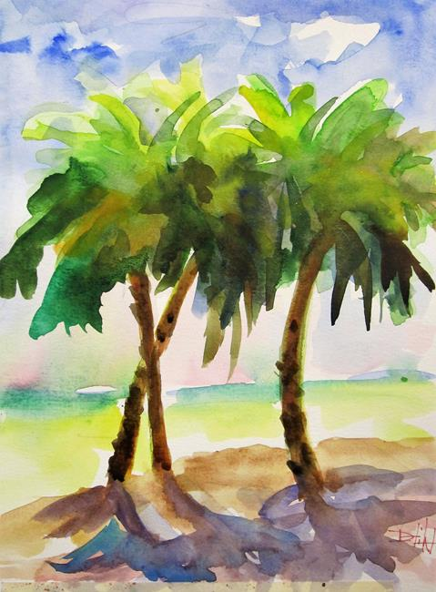 Art: Palm Trees by Artist Delilah Smith