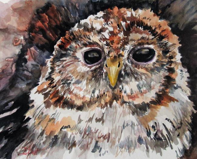 Art: Tawny Owl by Artist Delilah Smith