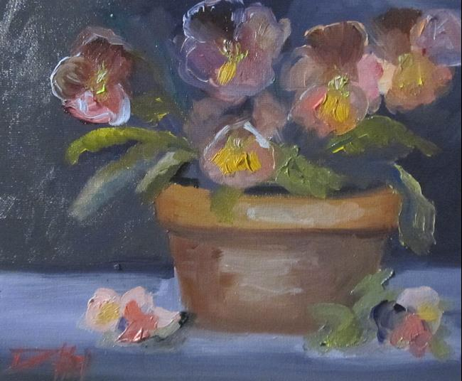 Art: Pansies No. 5 by Artist Delilah Smith