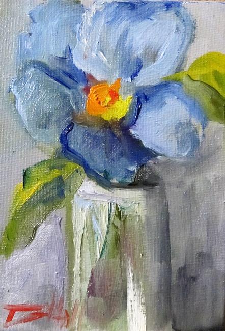 Art: Blue Flowers by Artist Delilah Smith