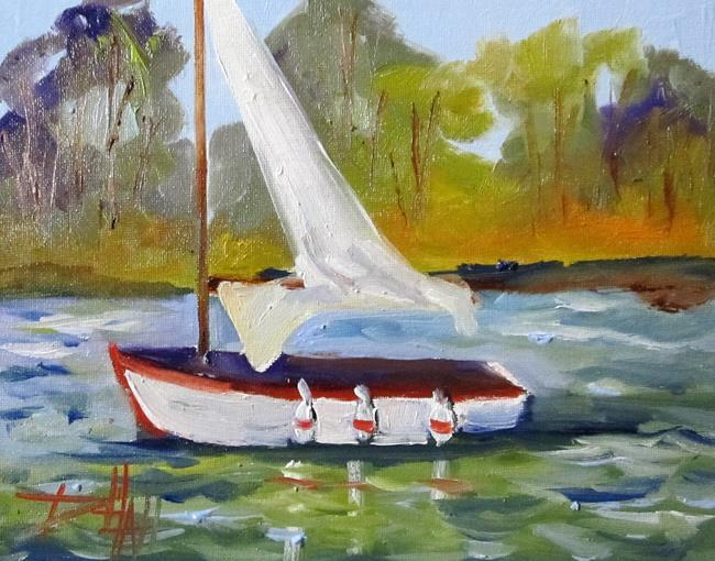 Art: Sailboat No. 17 by Artist Delilah Smith