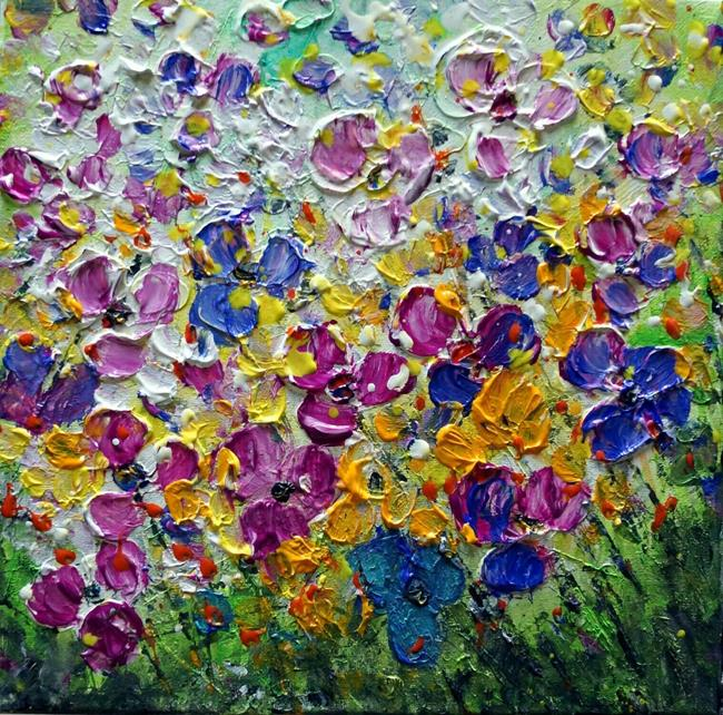 Art: PANSY WILDFLOWERS by Artist LUIZA VIZOLI