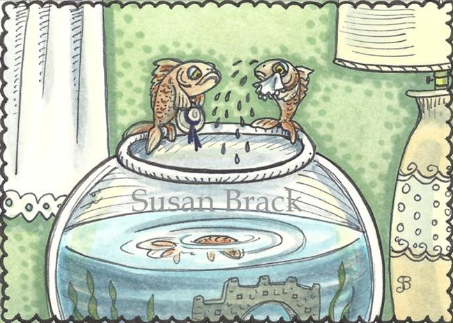 Art: BURIAL AT SEA by Artist Susan Brack