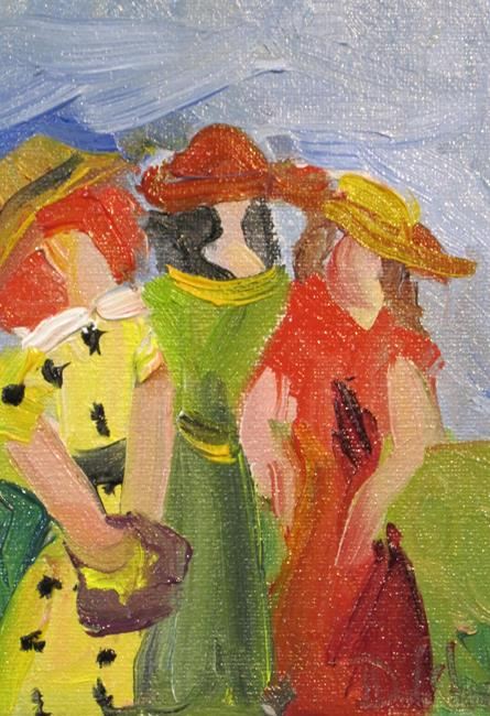 Art: Women with Hats by Artist Delilah Smith