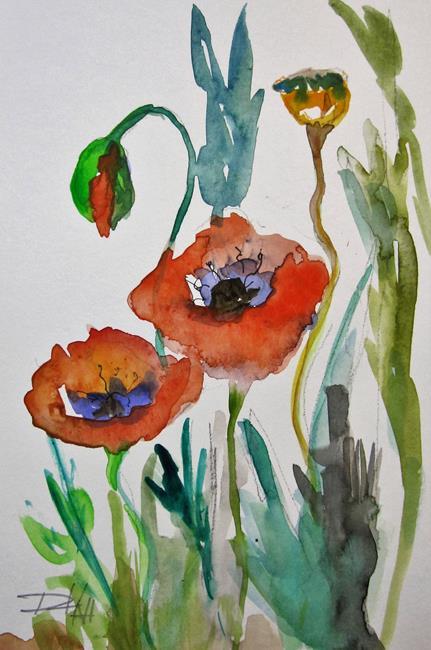 Art: Poppy Garden No. 3 by Artist Delilah Smith