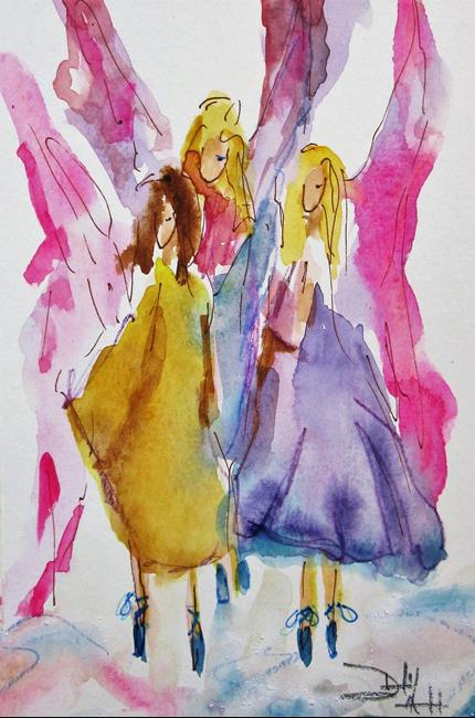 Art: Three Angels by Artist Delilah Smith