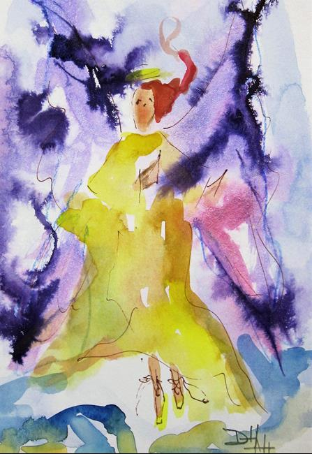 Art: Abstract Angel No. 2=sold by Artist Delilah Smith