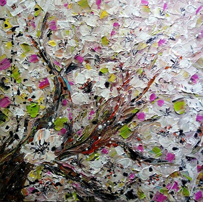 Art: JAPANESE CHERRY BLOSSOM Sakura by Artist LUIZA VIZOLI