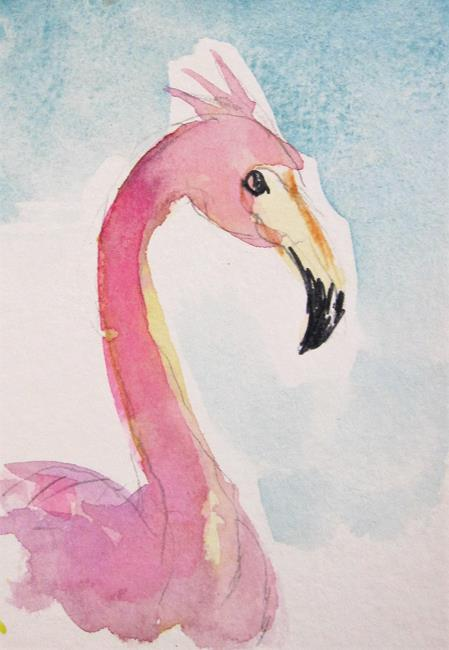 Art: Tropical Flamingo by Artist Delilah Smith