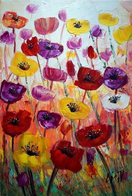 Art: TULIP FLOWERS by Artist LUIZA VIZOLI