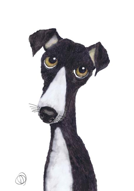 Art: GREYHOUND g986 by Artist Dawn Barker