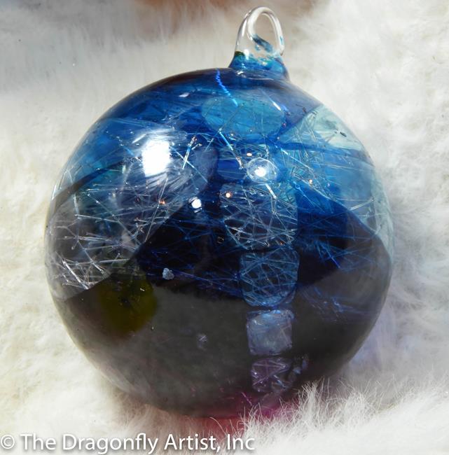 Art: Blue 2 Red Giant Dragonfly Sun Catcher Ball # 1393094 by Artist Rebecca M Ronesi-Gutierrez
