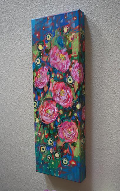 Art: Blushing Brightly - Blissful Blossoms series - SOLD by Artist Dana Marie
