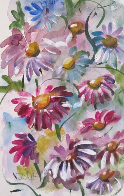 Art: Flower Garden No. 3 by Artist Delilah Smith
