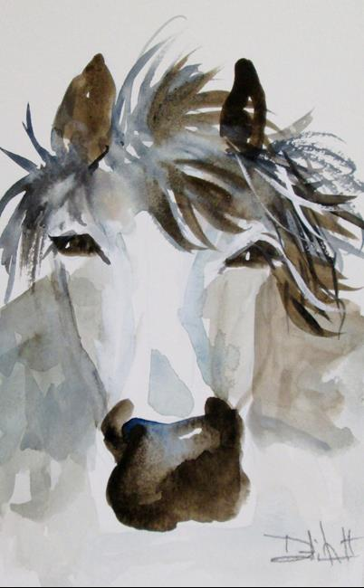 Art: Gray Horse by Artist Delilah Smith