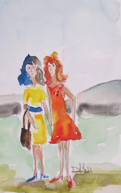 Art: Sisters by Artist Delilah Smith
