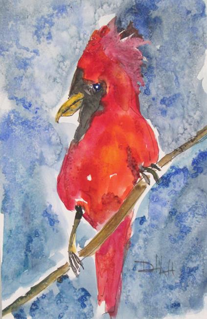 Art: Cardinal No. 3 by Artist Delilah Smith