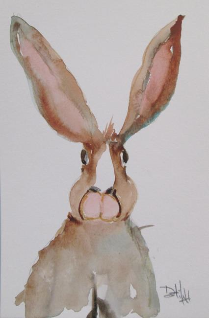 Art: Long Eared Rabbit by Artist Delilah Smith