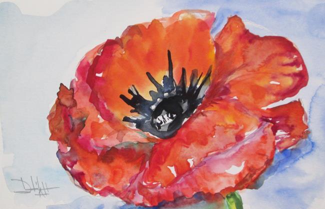 Art: Red Poppy by Artist Delilah Smith