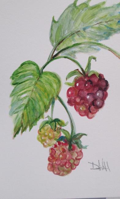 Art: Raspberries No. 3 by Artist Delilah Smith
