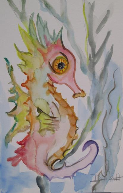 Art: Little Seahorse by Artist Delilah Smith