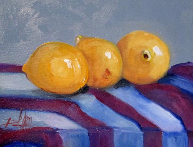 Art: Three Lemons by Artist Delilah Smith