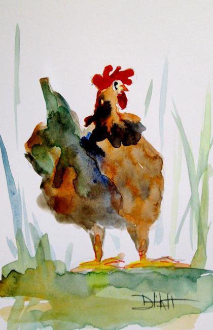 Art: Fat Chicken by Artist Delilah Smith
