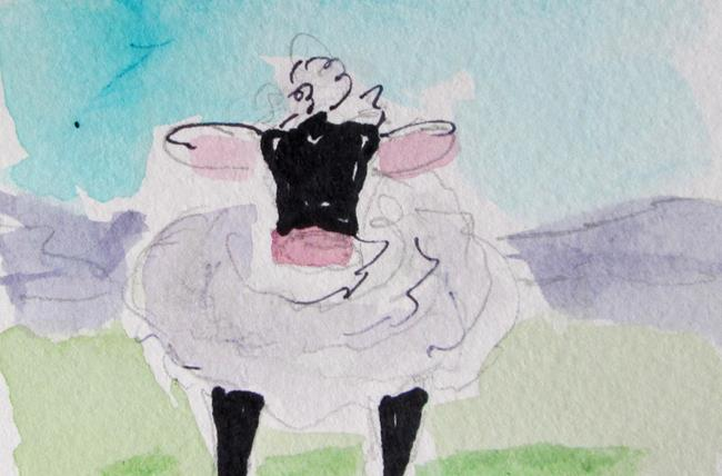 Art: Fluzzy Sheep by Artist Delilah Smith