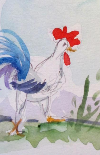 Art: Chicken Aceo by Artist Delilah Smith