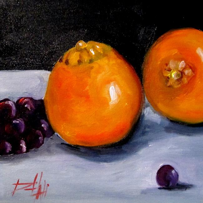 Art: Oranges and Grapes by Artist Delilah Smith