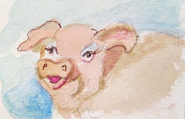Art: Pig by Artist Delilah Smith