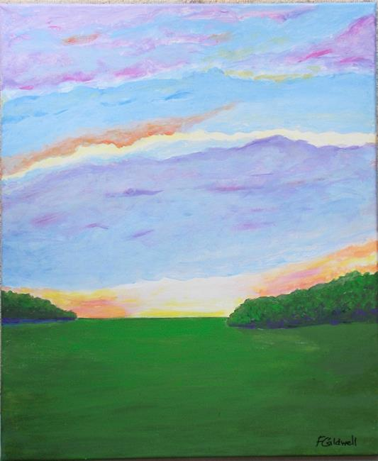 Art: Dawn Meadow by Artist Fran Caldwell