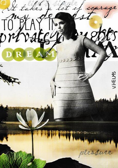 Art: Dream Graphic by Artist Vicky Helms