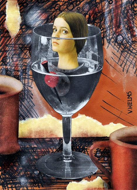 Art: Still Life With Cherry Tomato by Artist Vicky Helms
