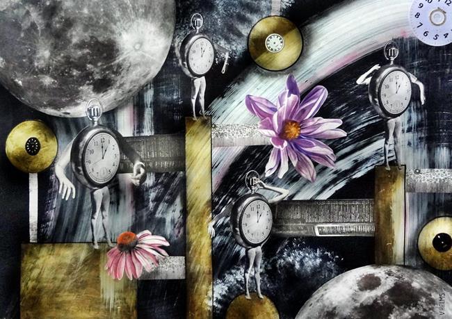 Art: The Dance of Time by Artist Vicky Helms