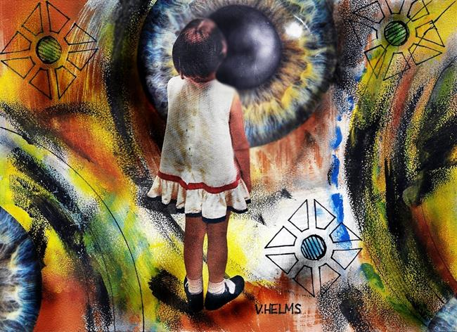Art: The Eye That Blinks by Artist Vicky Helms