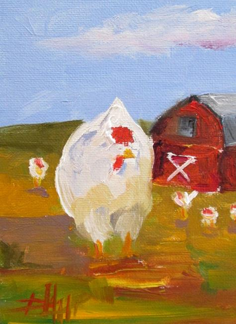Art: Chickens by Artist Delilah Smith