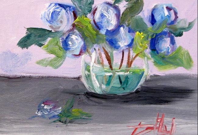 Art: Blue Flower Still Life by Artist Delilah Smith