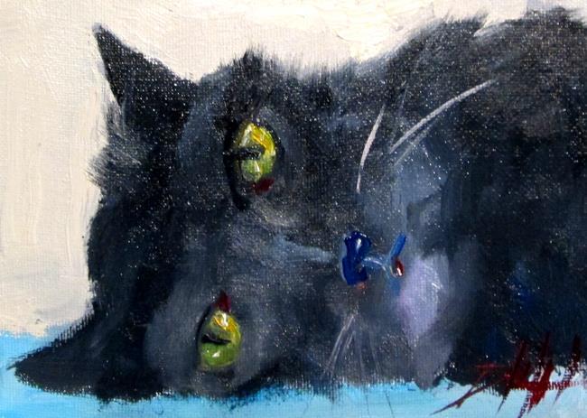 Art: Black Cat by Artist Delilah Smith