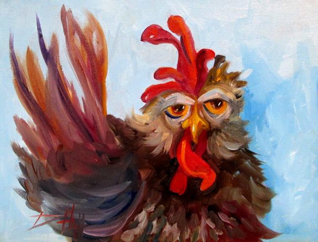 Art: Farm Chicken by Artist Delilah Smith